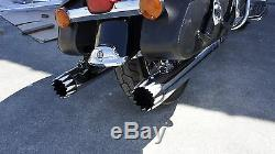 MUTAZU 4 Chrome Roaring MF-02 Slip-On Mufflers Exhaust 1995-2016 Harley Touring