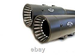 MUTAZU 4 Competition 2.0 Megaphone Slip-On Mufflers Exhaust for 95-16 Harley