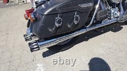MUTAZU 4 Competition Chrome Slip-On Mufflers Exhaust for 2017-up Harley Touring