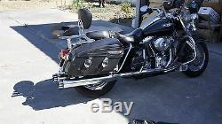 MUTAZU 4 Roaring Series Black MF-03-B Slip-On Mufflers Exhaust 95-2016 Harley