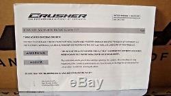 Mufflers Harley Tour Kuryakyn 549 Crusher Chrome Slip-On Black Slash Tips X4