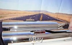Mufflers Harley Vance & Hines Monster Oval chrome 16755 Fits 95-14 Tour FLH X1