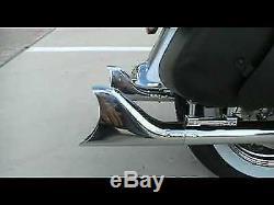 Mutazu 33 Black Fishtail Exhaust Slip On Mufflers for 95-16 Harley Touring