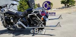 Mutazu 39 Black Fishtail Exhaust Slip On Mufflers for 95-16 Harley Touring