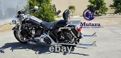 Mutazu 42 Fishtail Fish tail Exhaust Slip On Mufflers 2017-UP Harley Touring