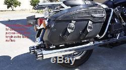 Mutazu 4 Roaring Black MF-02N-BB Slip-On Mufflers Exhaust 17-UP Harley Touring