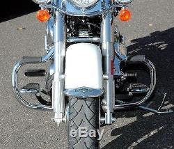 New Chrome Mustache Bar Engine Guard Crash Bar Harley FL Softail FLST 2000-2017