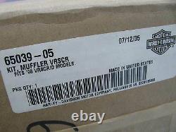 New Harley Davidson Chrome V-Rod Muffler Kit 65039-05 VRSCR VRSCRD mufflers