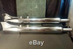 Pair Harley Touring Screamin Eagle Exhaust Pipes Fish Fin Tail 027-7116 027-7117