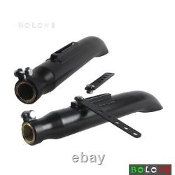 Pair Motorcycle Muffler Exhaust Pipes Silencers Turnout Steel For Harley Chopper