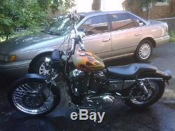 Paughco 3 Gallon Mustang Axed Gas Fuel Tank 1995-2003 Harley Evolution Sportster
