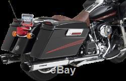 Python 4 Rayzer Exhaust Slip-on Mufflers Harley Electra Glide Road King Street