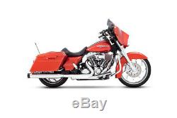 Rinehart Chrome Exhaust 4 Slip On Mufflers with Black Tips Harley Touring 95-16