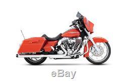 Rinehart Chrome with Black Tips 3.5 Slip-On Mufflers for'95-'16 Harley Touring