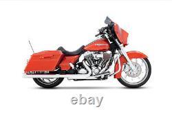 Rinehart Chrome with Chrome Tips 3.5 Slip-On Mufflers for'95-'09 Harley Tourin