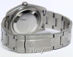 Rolex Oyster Perpetual Steel Black/Orange Harley Davidson Mens 36mm Watch 116000