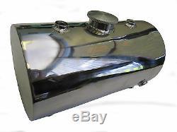 Round Stainless Steel Oil Tank for Custom Motorcycles Harley Chopper Bobber