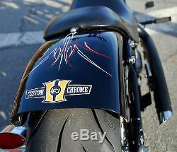 SHORTY STEEL FENDER FOR HOD ROD HARLEY SOFTAIL 2007 & UP with 200MM BOBBER CHOPPER