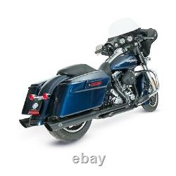 S&S Power Tune Black Slash Exhaust Mufflers for 96-16 Harley Touring Bagger FLHX