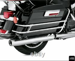 Saddlebag Guard Rail Mounts Bracket For Harley Touring Electra Glide FLHT 97-08