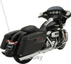 Slashdown Slip-On Mufflers 3.5 Chrome for 95-16 Harley Touring FLHT FLHX FLHR