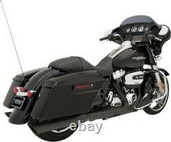 Slashdown Slip-On Mufflers 3.5 Matte Black 95-16 Harley Touring FLHT FLHX FLHR