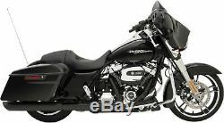 Slashdown Slip-On Mufflers 4 Matte Black fr 17-19 Harley Touring FLHT FLHX FLHR