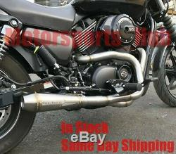 Stealth Pipes Harley Davidson XG Street 750 Stainless 2to1 Exhaust System 14-18