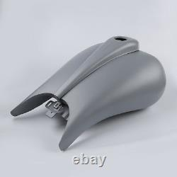 Stretched 6.6gal. Gallon Gas Fuel Tank Fit For Harley Touring Street Glide 08-21