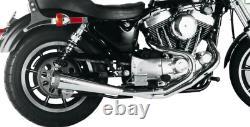 Super Trapp 2-1 stainless steel megaphone exhaust Harley Davidson Evo Sportster