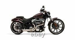 Supertrapp Kerker Bootlegger 2 into 1 2-1 Exhaust System Pipe 18+ Harley Softail