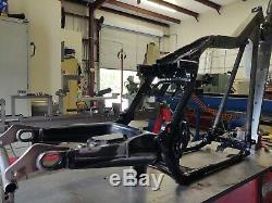Tinworksinc 09-UP Harley Davidson Bagger Lay Frame Swingarm/Air Tank Suspension
