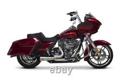 Two Brothers Harley Touring 07-16 Comp-S 2-1 Shorty Turnout Brushed Stainless