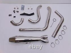 Two Brothers Racing Harley-Davidson FXD 2-Into-1 Gen-II Exhaust System Polished