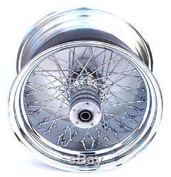 Ultima 18 X 5.5 Chrome 80 Spoke Rear Wheel Rim Harley Custom Chopper Bobber