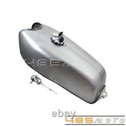 Universal Motorcycle 2.4 Gal Gas Fuel Tank For Harley Honda CG125S CB250 Yamaha
