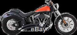 Vance And Hines Black Big Radius Exhaust 86-17 Harley Softail FLSTC FXSTB FXS