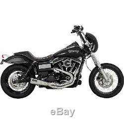 Vance & Hines 27625 Raw Upsweep 2-into-1 Exhaust System Harley Dyna FXD 91-17