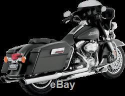 Vance & Hines 4 Exhaust Slip-on Mufflers Harley Electra Glide Road King Street