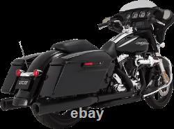 Vance & Hines Black 4 Eliminator 400 Slip On Mufflers for 95-16 Harley Touring