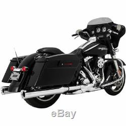 Vance & Hines Chrome 4 Eliminator 400 Slip-On Exhaust Mufflers for 95-16 Harley