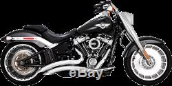 Vance & Hines Chrome Big Radius Exhaust System for 18-19 Harley Fat Boy Breakout
