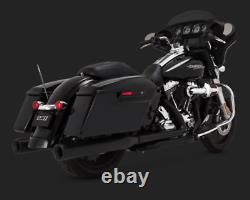 Vance & Hines Eliminator 400 Black Slip-On Mufflers Exhaust Pipes Harley Touring