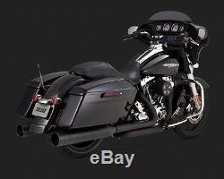 Vance & Hines Oversized 450 Black Exhaust Mufflers Harley Davidson 95-16 Touring