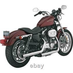 Vance & Hines Straightshots HS slip on chrome exhaust Harley 04-13 Sportster XL