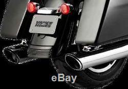 Vance & Hines Twin Slash 4 Chrome Exhaust Mufflers 17-18 Harley Touring FLHX