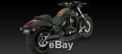 Vance & Hines Widow Black Slip-on Mufflers Exhaust 06-17 Harley Vrsc Vrod Vrscd