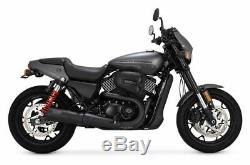 Vance and Hines Hi OutPut Slip-On Black Stepped Exhaust Harley Street 2015-2020
