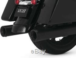 Vance and Hines Muffler Slip on 400 Eliminator 4 Black FL 17-19 Harley Touring