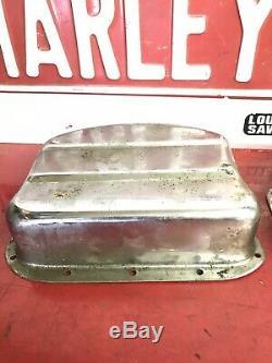 Vintage Harley Panhead Original Stainless Steel Rocker Pan Cover oem 1569
